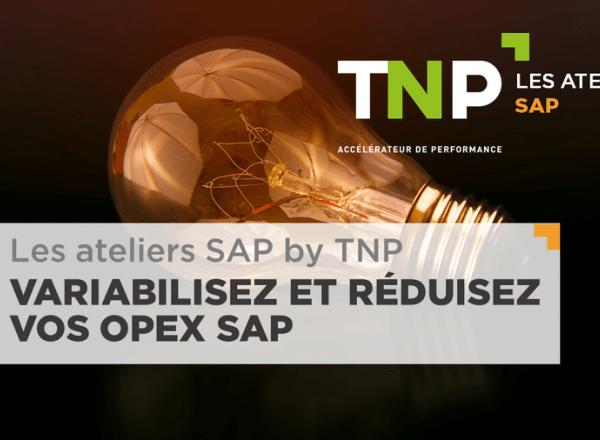 Les ateliers SAP by TNP // Variabilisez et réduisez vos OPEX SAP